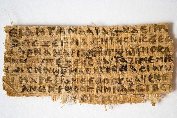Papyrus of Jesus' Wife fragment
